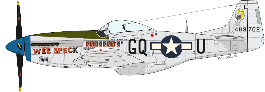P-51D Mustang Wee Speck, assigned to Maj. Lowell K. Brueland