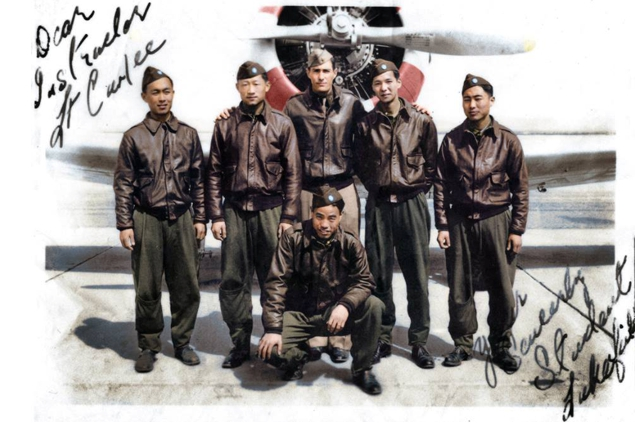 Lt. Curlee with Nationalist Chinese pilots